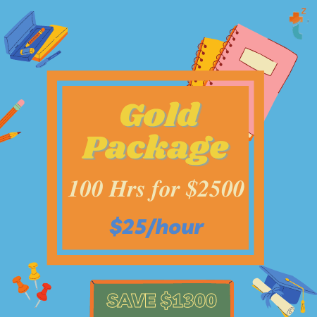 Image of Tutor Zone Package: Gold